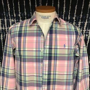 Euc Polo plaid shirt sz L